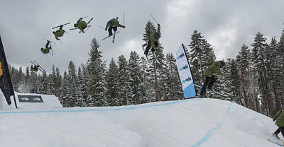 Skiing Action Photograph - Taking Flight by Jeremy Jensen