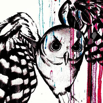 Pop Art Photograph - Taking Flight... #owl #abstract #pop by Mr Jeremy