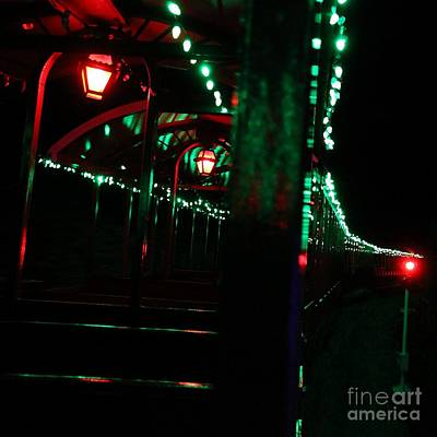 Taking In The Lights Riding The Rails Art Print by Scott Allison