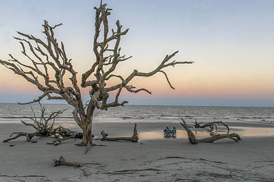 Photograph - Taking It All In At Driftwood Beach During Sunset On Jekyll Island Georgia by Willie Harper