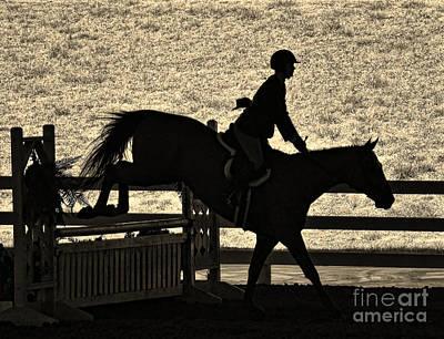Susan Jones Photograph - Taking The Fence by Susan Jones