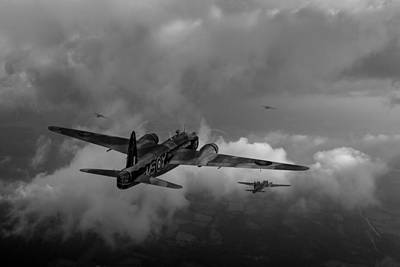 Photograph - Taking The Fight To The Enemy Black And White Version by Gary Eason
