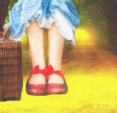 Taking Yellow Path Art Print