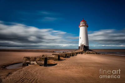 Beam Digital Art - Talacre Beach by Adrian Evans