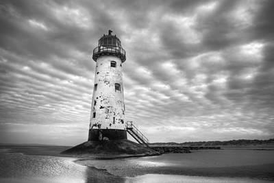 Talacre Lighthouse Monochrome Art Print