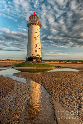North Wales Photograph - Talacre Lighthouse Sunset by Adrian Evans