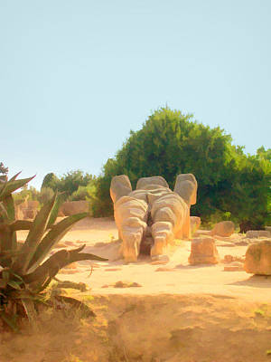 Photograph - Talamons In Agrigento  by Caroline Stella