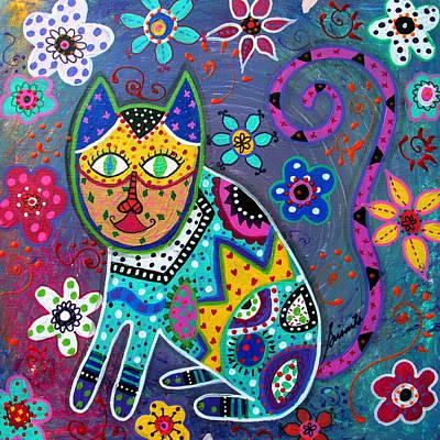 Painting - Talavera Cat IIi by Pristine Cartera Turkus