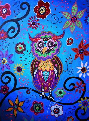 Painting - Talavera Owl by Pristine Cartera Turkus