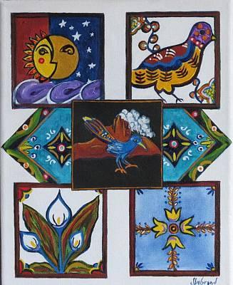 Ceramic Art Tile Painting - Talavera Tiles by Judy Lybrand