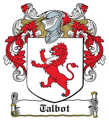 Talbot Coat Of Arms Malahide Ireland Art Print by Heraldry