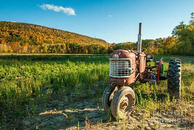 Talcott Mountain Rustic - New England Farm In Autumn Art Print by JG Coleman