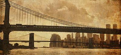 Photograph - Tale Of Two Bridges by Joann Vitali