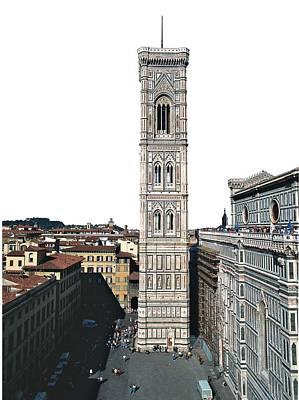 Marble Inlay Statues Photograph - Talenti Francesco, Giotto, Andrea Da by Everett
