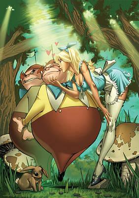 Alice In Wonderland Mixed Media - Tales From Wonderland Tweedledee And Tweedledum by Zenescope Entertainment