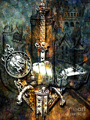 Tales Of Chivalry Art Print by Tammera Malicki-Wong