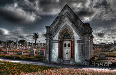 Graveyard Photograph - Tales Of The Crypt by Hilton Barlow