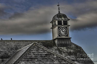 Photograph - Talgarth Town Hall Clock by Steve Purnell