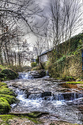 Photograph - Talgarth Waterfall 5 by Steve Purnell