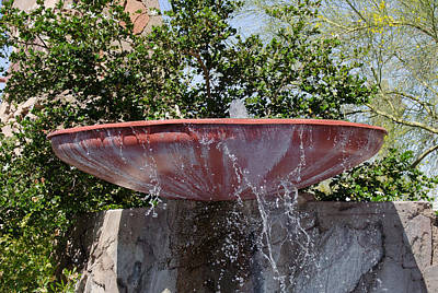 Pottery Water Fountain Photograph - Taliesin West Fountain by Janelle Losoff