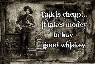 Talk Is Cheap Art Print by Robert Hudnall