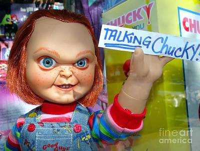 Talking Chucky Art Print by Ed Weidman
