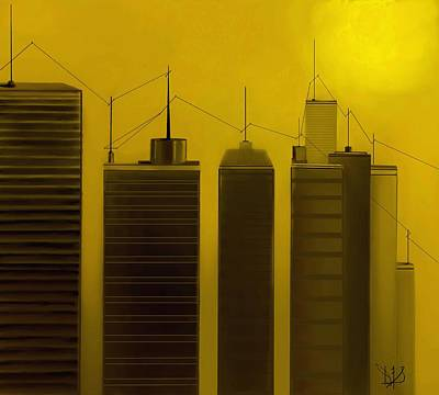 Telephone Poles Mixed Media - Talking Towers  #10 by Diane Strain