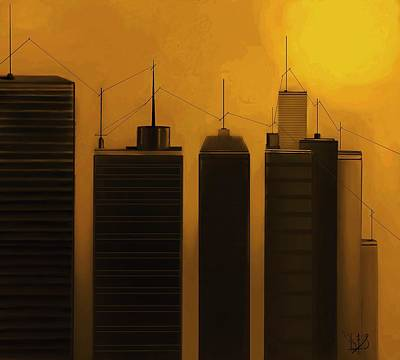 Telephone Poles Mixed Media - Talking Towers  #17 by Diane Strain