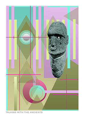 Caption Digital Art - Talking With The Ancients by Peter Scholey