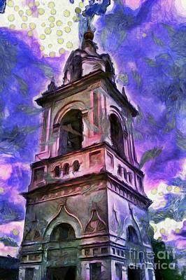 Belfry Digital Art - Tall Belfry by Magomed Magomedagaev