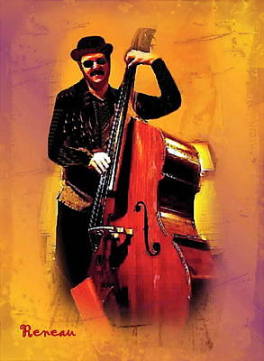 Photograph - Tall Cool Bass Player by Sadie Reneau