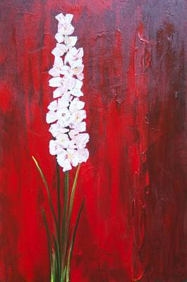 Painting - Tall Flower by Ron Woodbury