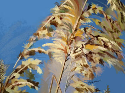 Art Print featuring the digital art Tall Grass Mix by Anthony Fishburne