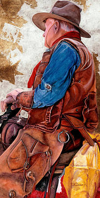 Painting - Tall In The Saddle by JK Dooley