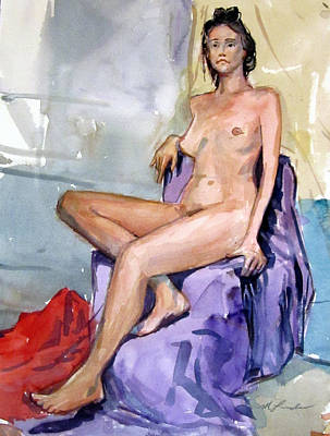Painting - Tall Nude by Mark Lunde