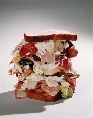 Tall Overstuffed Dagwood Sandwich Still Art Print