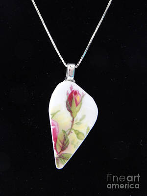 Jewelry - Tall Rose Pendant by Patricia  Tierney