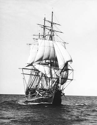 Single Object Photograph - Tall Sailing Ship by Underwood Archives