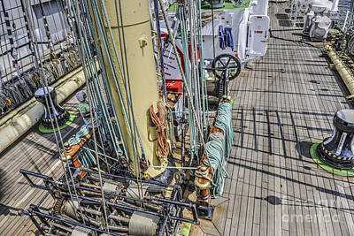 Photograph - Tall Ship Amidships by Dale Powell