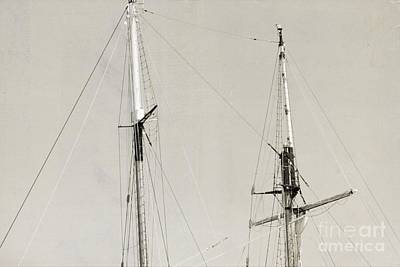 Tall Ship At Dock Art Print