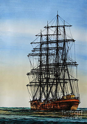 Tall Ship Beauty Art Print by James Williamson
