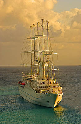 Tall Ship Cruise Art Print by Dennis Cox WorldViews