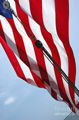 Photograph - Tall Ship Flag by Dale Powell