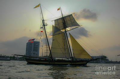 Tall Ship In Charleston Art Print by Dale Powell