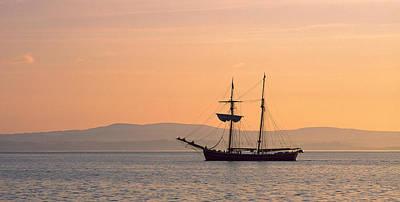 Tall Ship In The Baie De Douarnenez Art Print