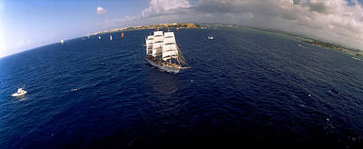 Tall Ship In The Sea, Puerto Rico Art Print by Panoramic Images