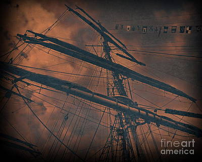 Digital Art - Tall Ship Mast V2 by Tim Richards