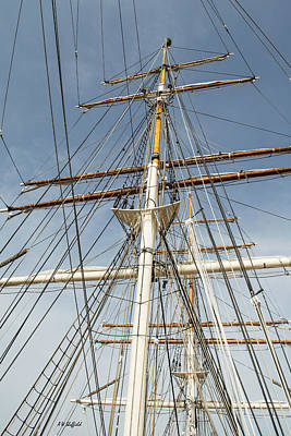 Sean Rights Managed Images - Tall Ship Mast Royalty-Free Image by Allen Sheffield