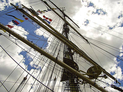 Photograph - Tall Ship Mast And Crows Nest 2 by Tom Doud