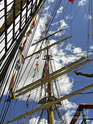 Photograph - Tall Ship Mast And Crows Nest 3 by Tom Doud
